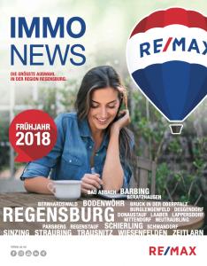 Remax Immonews Frühjahr 2018 Regensburg