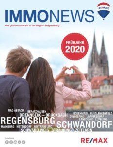 Remax Immonews Titelblatt Frühjahr 2020 Regensburg und Schwandorf