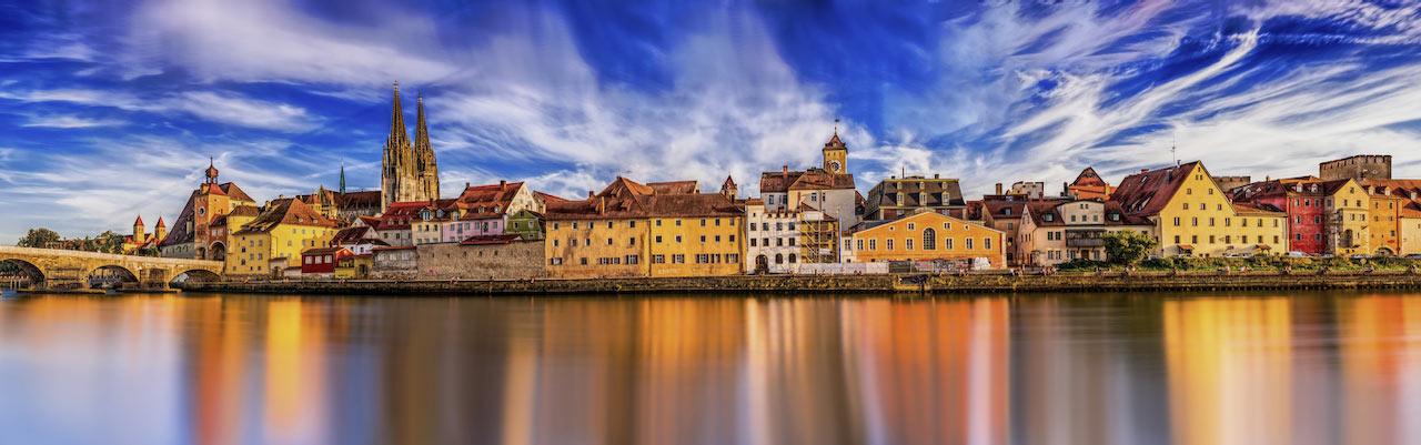Blick auf Immobilien in Regensburg